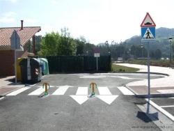 zona reservada para servicios de recogidas y limpiezas