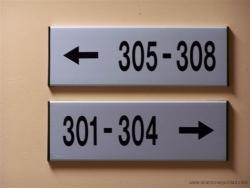 Placa señalización informativa inoxidables.