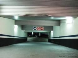 Acceso a parking subterráneo