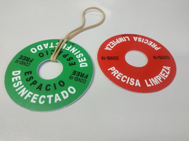 Marcador de superficies libres covid-19