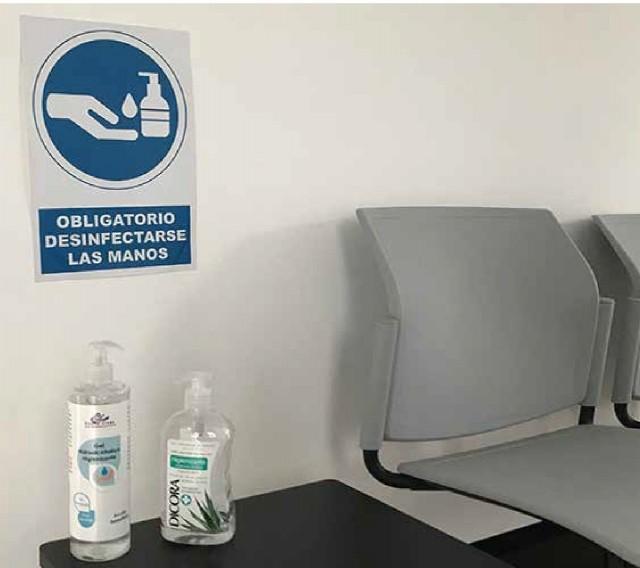 Panel limpieza de manos