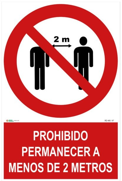Cartel Distancia Seguridad