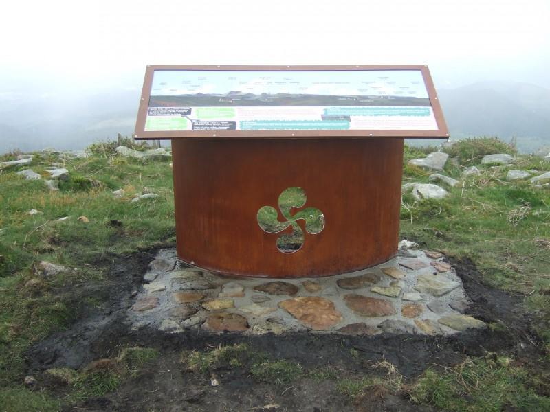 Señalización Informativa mesa orientación monte Oiz Bizkaia