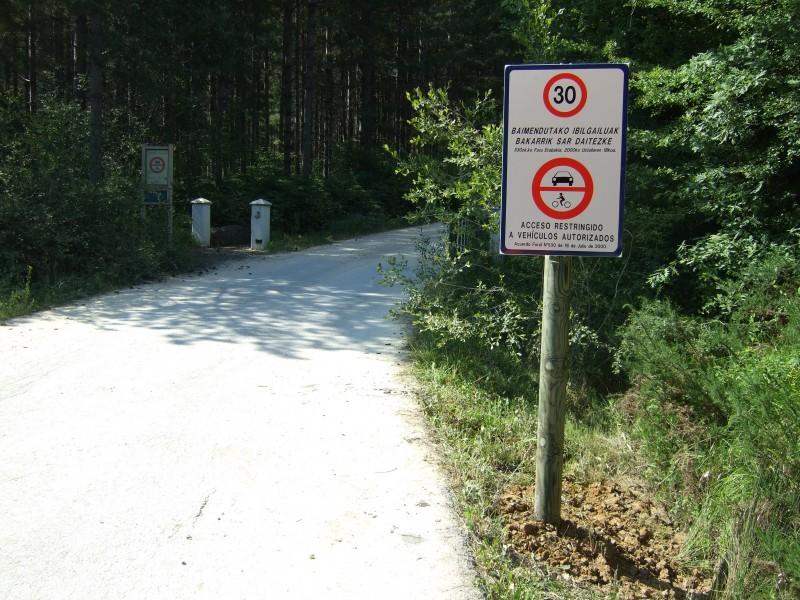 Señalización parque naturales Bizkaia