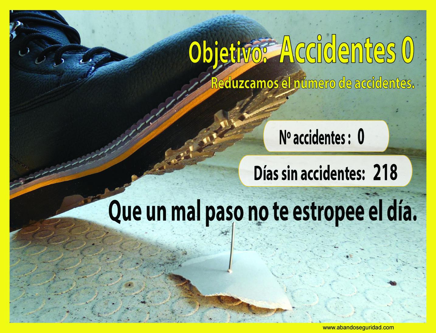 Panel Informativo número de accidentes
