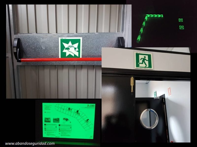 Planos de evacuacuón fotoluminiscente