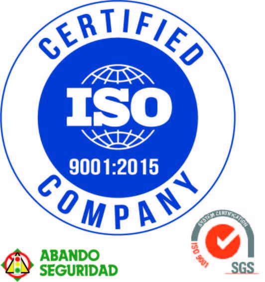 Certificado Gestión Calidad ISO 9001:2015