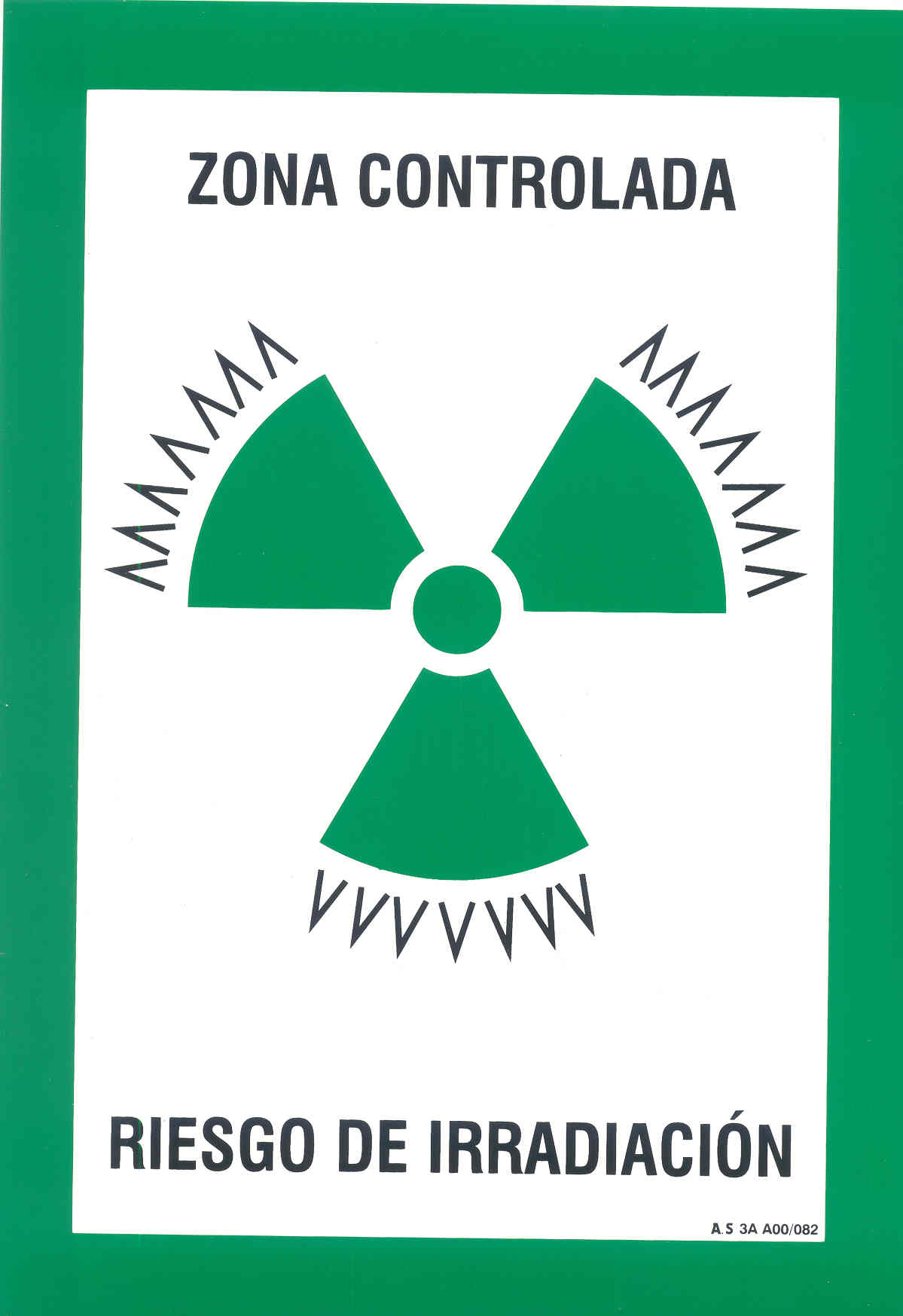 Señal Radiación Zona Controlada
