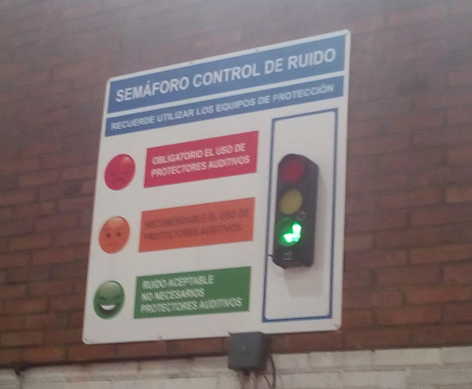 Panel señalización ruidos