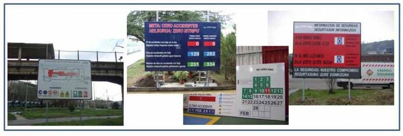 Carteles número accidentes con baja