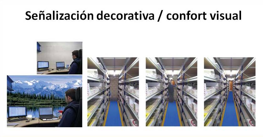Señalización decorativa / confort visual