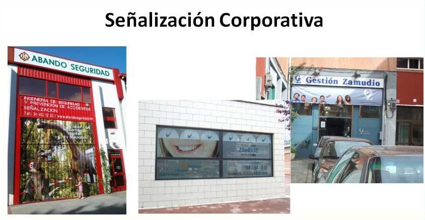 Señalización corporativa,Bizkaia,rotulos,fachadas,vehículos,rotulación
