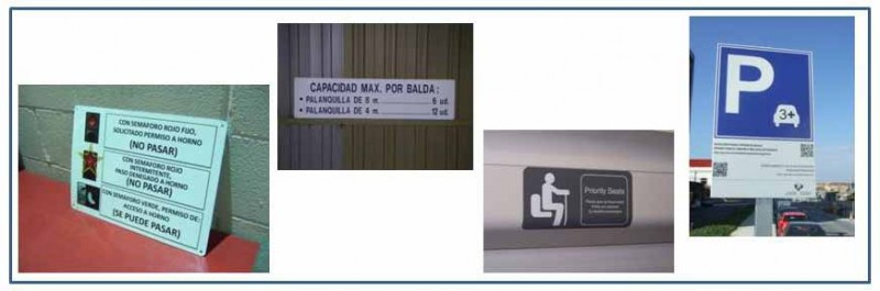 Carteles instrucciones