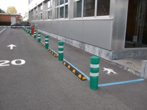 Pasillos peatonales-bolardos-separadores