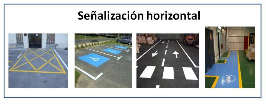 Señalización horizontal riesgos