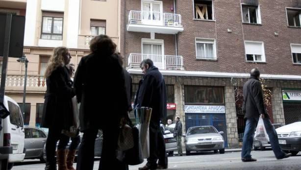 Incendio en la calle Labayru de Bilbao